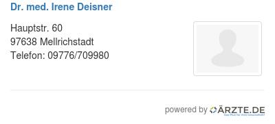 Dr med irene deisner 580582