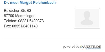 Dr med margot reichenbach