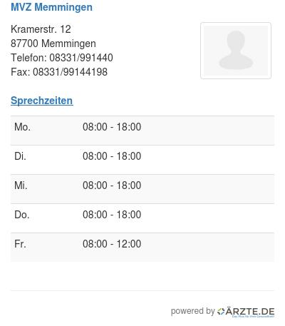 Mvz memmingen