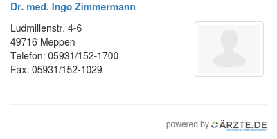 Dr med ingo zimmermann 425293