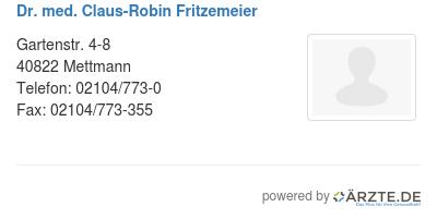 Dr med claus robin fritzemeier 579271
