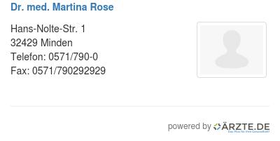 Dr med martina rose