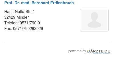 Prof dr med bernhard erdlenbruch