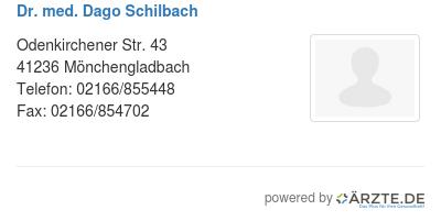 Dr med dago schilbach