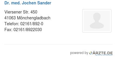 Dr med jochen sander 545820