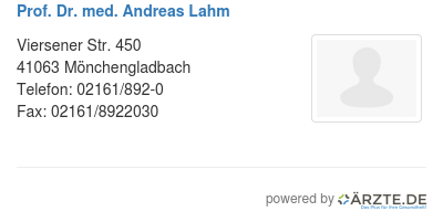 Prof dr med andreas lahm 578606