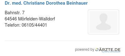 Dr med christiane dorothea beinhauer 578793