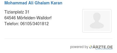 Mohammad ali ghalam karan