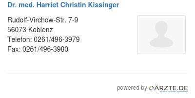 Dr med harriet christin kissinger 545851