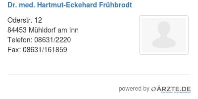 Dr med hartmut eckehard fruehbrodt