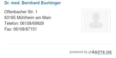 Dr. Buchinger Mühlheim