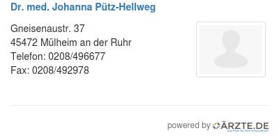 Dr med johanna puetz hellweg 579175