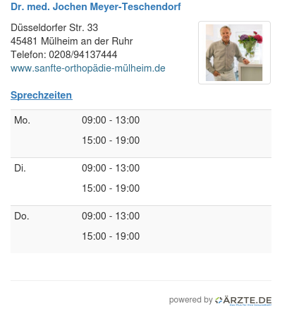 Dr med jochen meyer teschendorf