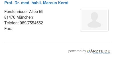 Prof dr med habil marcus kernt