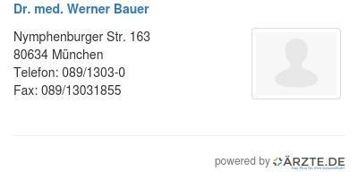 Dr med werner bauer 580973