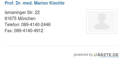 Prof dr med marion kiechle