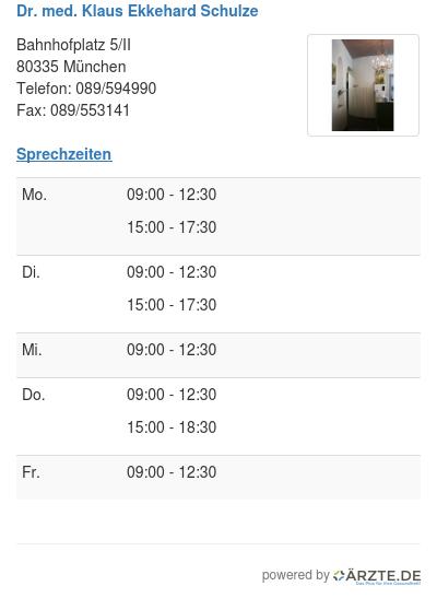 Dr med klaus ekkehard schulze