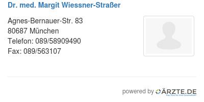 Dr med margit wiessner strasser