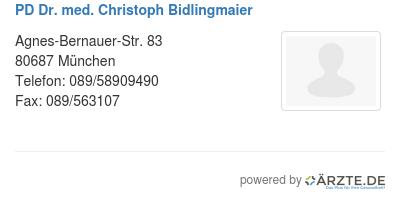 Pd dr med christoph bidlingmaier 580971