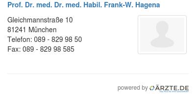 Prof dr med dr med habil frank w hagena