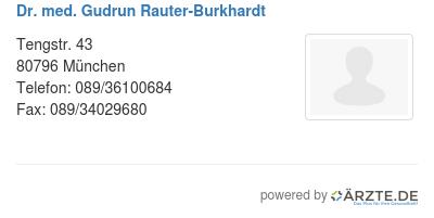 Dr med gudrun rauter burkhardt