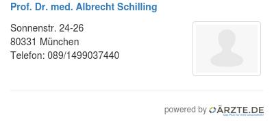 Prof dr med albrecht schilling