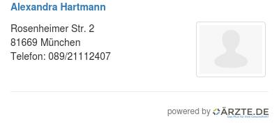 Alexandra hartmann 530106