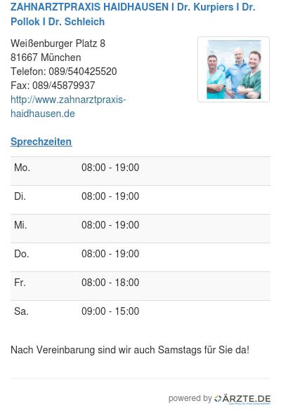 Zahnarztpraxis haidhausen i dr kurpiers i dr pollok i dr schleich