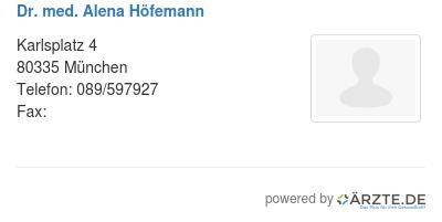 Dr med alena hoefemann