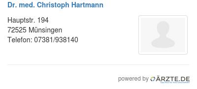 Dr med christoph hartmann 545823