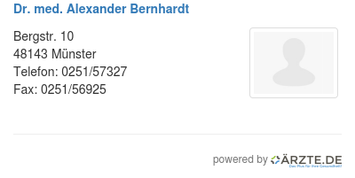 Dr med alexander bernhardt 579787