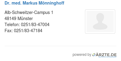 Dr med markus moenninghoff
