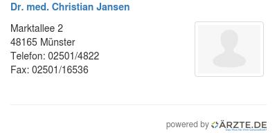 Dr med christian jansen 425633