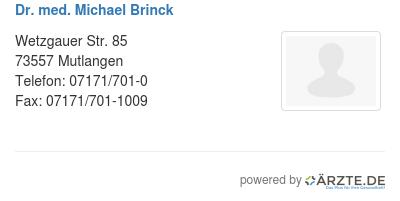 Dr med michael brinck 529353