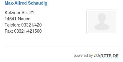 Max alfred schaudig 578827
