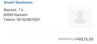Annett sandmann 425472