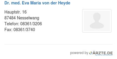 Dr med eva maria von der heyde 543733