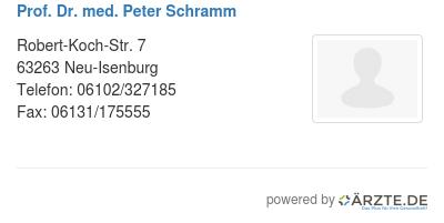Prof dr med peter schramm