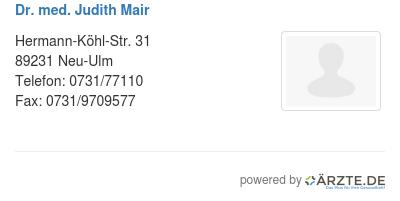 Dr med judith mair 579629