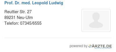 Prof dr med leopold ludwig 536752