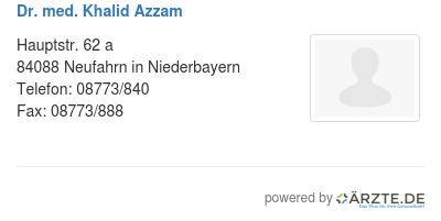 Dr med khalid azzam