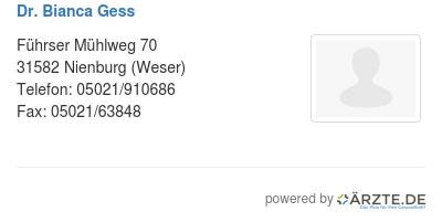Dr bianca gess 579724