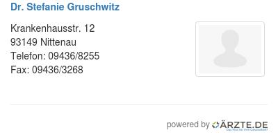 Dr stefanie gruschwitz