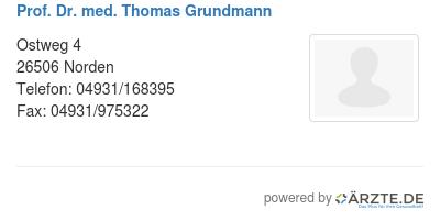 Prof dr med thomas grundmann