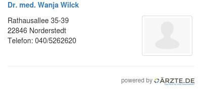 Dr med wanja wilck