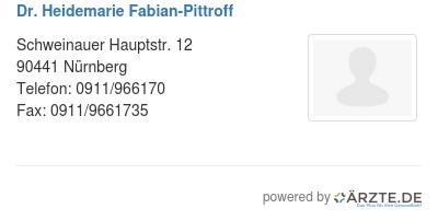 Dr heidemarie fabian pittroff