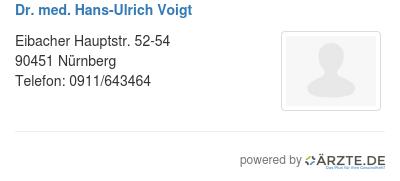 Dr med hans ulrich voigt 253982