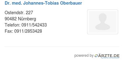 Dr med johannes tobias oberbauer