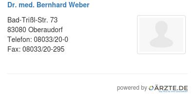Dr med bernhard weber