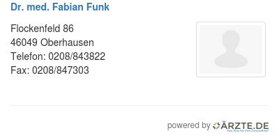 Dr med fabian funk